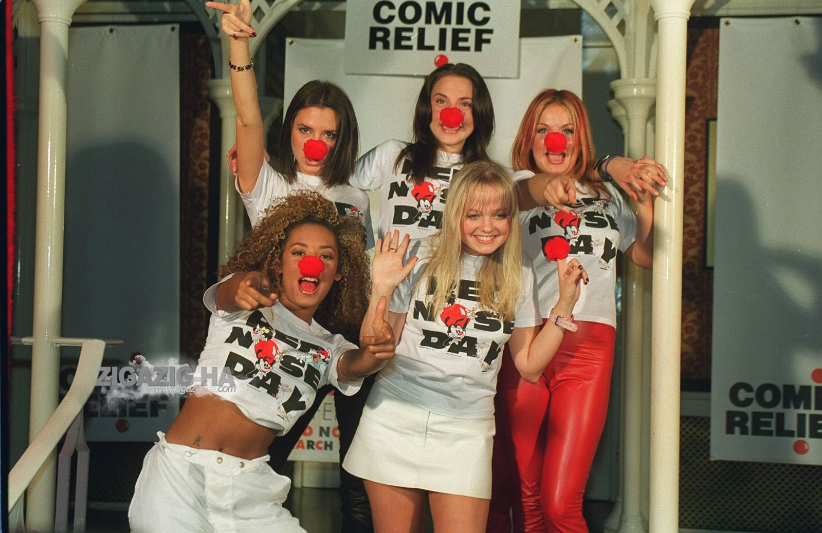 Girls candids appearances hq large 1997 1997 feb 6th spice girls at